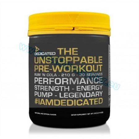 Dedicated The Unstoppable Pre-Workout (210g.) - Rum 'N Cola