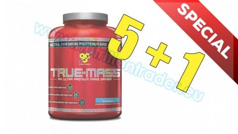 BSN Special Buy 5 pcs True Mass - (16 serv) - Strawberry and get 1 pcs free