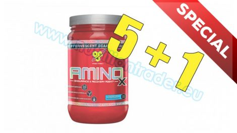 BSN Special Buy 5 pcs Amino X - (30 srv) - Green Apple and get 1 pcs free