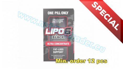 Nutrex Special Buy 12 pcs Lipo-6 Black UC International (60 caps) and get our Special price