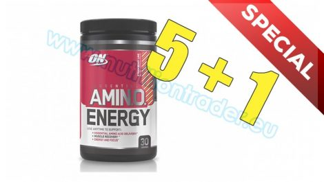 Optimum Nutrition Special Buy 5 pcs Amino Energy (270g.) - Lemon & Lime and get 1 pcs free