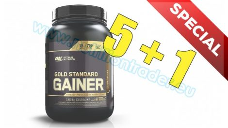 Optimum Nutrition Special Buy 5 pcs Gold Standard Gainer (3, 58 Lbs.) - Vanilla and get 1 pcs free