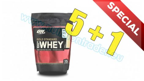 Optimum Nutrition Special Buy 5 pcs 100% Whey Gold Standard (1 Lbs.) - Vanilla Bag and get 1 pcs free