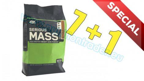 Optimum Nutrition Special Buy 7 pcs Serious Mass (12 Lbs.) - Banana and get 1 Extra pcs free
