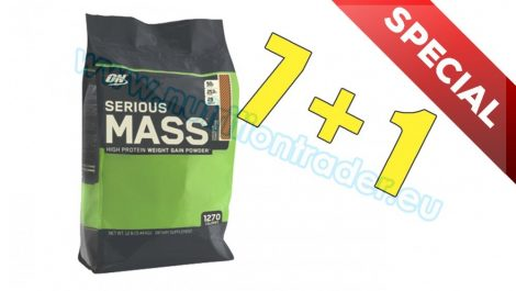 Optimum Nutrition Special Buy 7 pcs Serious Mass (12 Lbs.) - Chocolate and get 1 Extra pcs free
