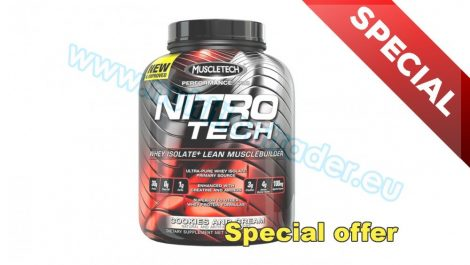 Muscletech Nitrotech - (4 Lbs.) - Chocolate Chip Cookie Dough