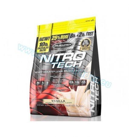 Muscletech Nitrotech - (10 Lbs.) bonus size (8lb + 2lb free!) - Vanilla
