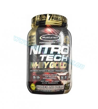 Muscletech Nitrotech 100% Whey Gold - (2,5 Lbs.) - French Vanilla