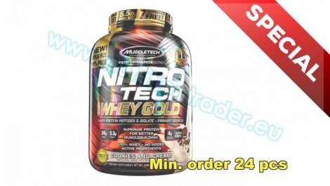 Muscletech Special Buy 12 pcs Nitrotech 100% Whey Gold - (5,5 Lbs.) - Cookies & Cream and get our Special Price