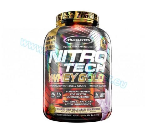 Muscletech Nitrotech 100% Whey Gold - (5,5 Lbs.) - New York Berry Cheesecake