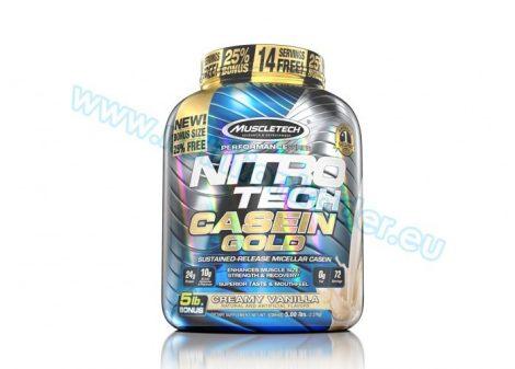 Muscletech Nitrotech Casein Gold - (5 Lbs.) - Creamy Vanilla